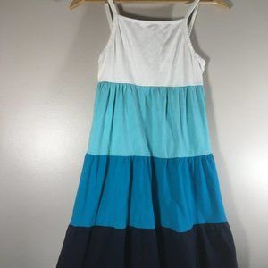 2for20 Cute Gap Spring Summer Tiered Blues Dress
